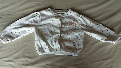 Lovely soft cotton baby girls cardigan 3-6 months from Mothercare