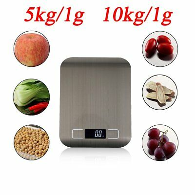 Kitchen Scale Stainless Steel Digital LCD Electronic Postal Food Weighing ScalQ#