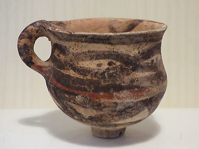 Early Persian bichrome pottery cup. c. 2nd mill. BC. Good provenance.