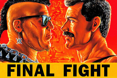 Final Fight Old Classic Retro Game 24x36 Silk Poster