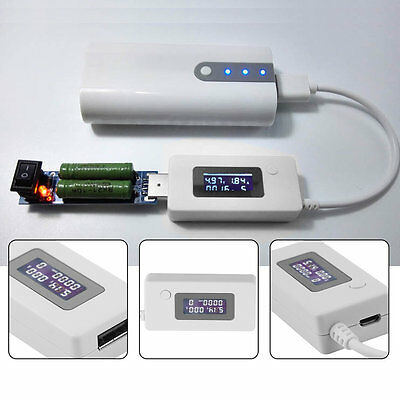USB Voltage and Current Monitor Tester Detector Mobile Power Capacity Tester Q#