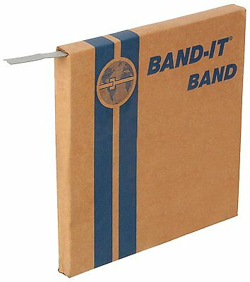 "BAND-IT C40499 316 Stainless Steel Uncoated Band, 1/2"" Width X 0.030"" Thick, 100"