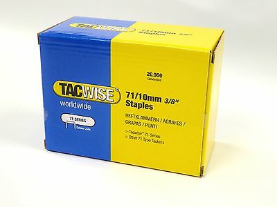 Tacwise 71/10 Series Upholstery Staples 10mm - 20000 per Box