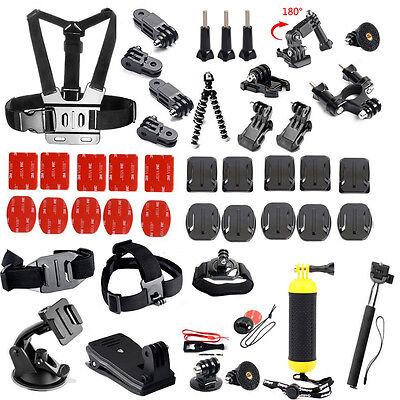 Accessories Kit Tripod Chest Mount for Gopro hero 5 4 session 3+/SJCAM/eken h9r