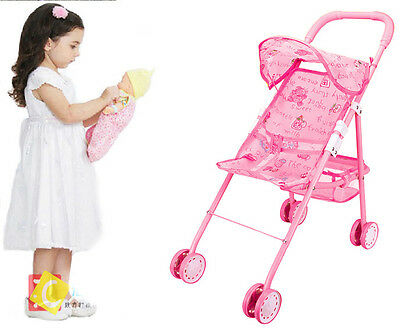 4 Wheeler Kids Baby Childs Doll Toy Pram/Carry Cot/Pushchair/Buggy/Stroller