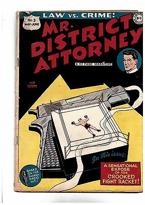 Mr. District Attorney #3 1948 DC Based on NBC Radio Show 3.0 GD/VG to 3.5 VG-