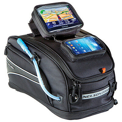 Nelson Rigg CL-2020-ST GPS Strap Mount Motorcycle Black Tank Bag