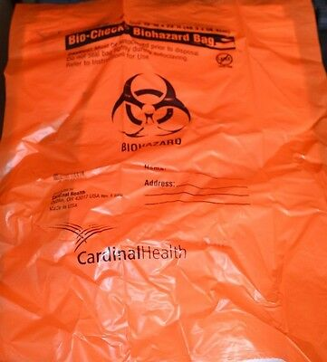 Cardinal Health Bio-Check Biohazard Disposal Clinical Waste Bags 48 x 58cm