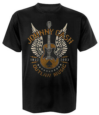 Johnny Cash T-Shirt Outlaw Music