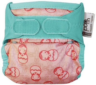 Pop-in Close Single Reusable Nappy Bamboo (New Print Russian Doll)