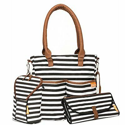 Nappy Bag Designer Elegant, Functional and Durable, Includes Nappy Changing Mat,