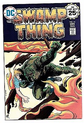 Swamp Thing #14 1975 DC Comics Michelinie Redondo 8.0 VF to 8.5 VF+ Alec Holland