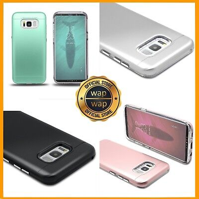 For Galaxy S8 Plus + Silicone Gel Case Shockproof Hybrid Hard Rubber Cover