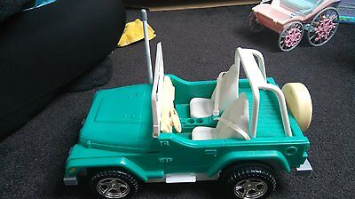 Green Barbie Remote Control Wrangler Jeep  (Incuding FREE postage)