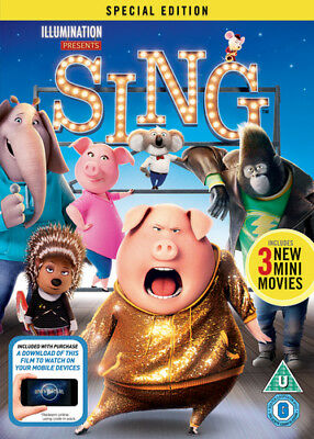 Sing DVD (2017) Garth Jennings cert U ***NEW*** FREE Shipping, Save £s