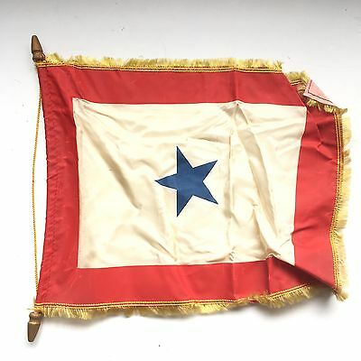 Original WWII US Son In Service 1 Star Flag Army Navy Air Force Marines Banner