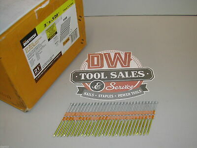 "Bostitch Nails 3"" 10d Full Round Head Hot Dip Galvanized 20 21 22 Degree (2,000)"
