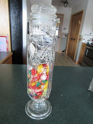Original 1902 Aunt Jane's Candy Jar Pharmacy Apothecary Candy Store Display Jar
