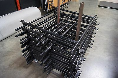 16 Each 4' Guardrails or Guard Rail and Cart for Midwest Folding Portable Stages