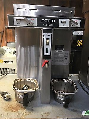 Fetco CBS 52H-15 Dual1.5 Gallon Thermal Coffee Brewer Maker Machine w/ faucet