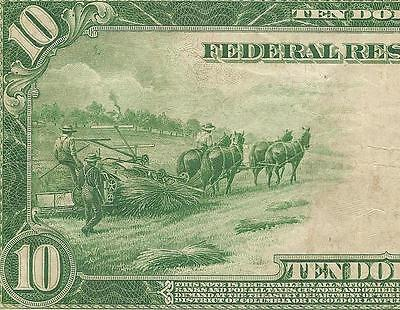 Large 1914 $10 Dollar Bill Federal Reserve Note Paper Money Currency F 951C Pcgs