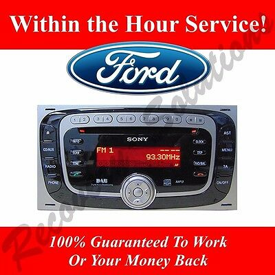 Ford Sony 6000 DAB Radio - V Serial Radio Unlock Code
