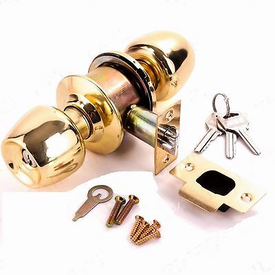 brass entrance lock door Knob set internal external Passage Privacy main door