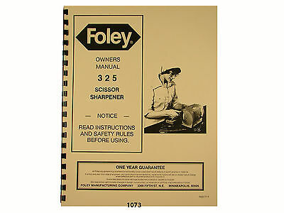 Foley Belsaw  Model 325 Scissor Sharpener *1073
