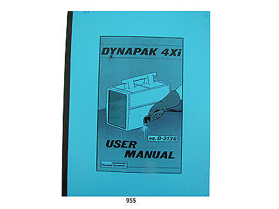 Thermal Dynamics Model 4xi Dynapak Plasma Cutter User Manual  *955