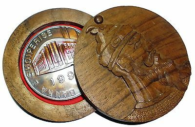 """ALBANIA 1995 """"70th Anniversary of the Bank of Albania"""" MEDALLION COIN"""