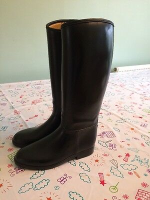 Quality Harry Hall Black Horse Riding Boots  - Size 1.5 - 2.