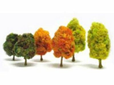 T Gauge Set of 6 Autumnal Colored Trees