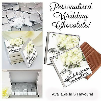 100 Personalised Wedding Chocolate Favours,Table Decor,Mr & Mrs