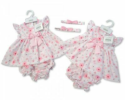 Baby Girl Clothes Dress pants headband set Pink Floral 0 - 9 months Little-Mirac
