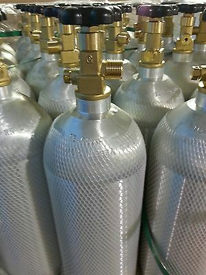 5 lb ALUMINUM CO2 CARBON DIOXIDE TANK- NEW-Beverage,  Welding & Beer Systems