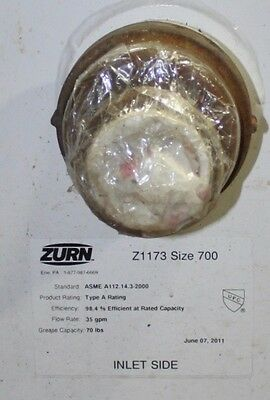 Zurn Floor Grease Trap, 35 gpm, 70 lb grease capacity, Z1173 Size 700