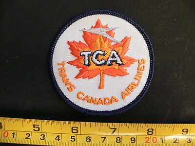 Embroidered patch TRANS CANADA AIRLINES TCA vintage Air Canada issued in 70's