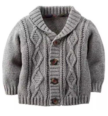 NWT Carter's Baby Boys' Shawl Collar Cardigan Size 18 Months