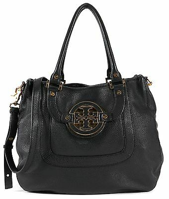 TORY BURCH Authentic Black Leather Shoulder Bag