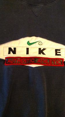 Nike Authentic Vintage Athletic Sweat Shirt Blue Size XL