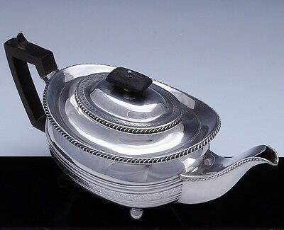 Very Fine 1789 Georgian Design 1920 William Hutton Sterling Silver Footed Teapot