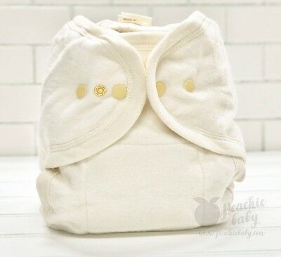 WHOLESALE Closeout Certified Organic YOUTH One Size Cloth Fitted Diaper -Natural