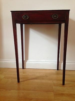 VICTORIAN/EDWARDIAN MAHOGANY SIDE TABLE with DRAWER