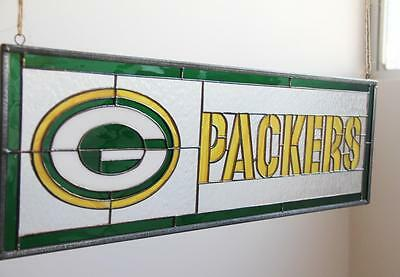 Green Bay Packers NFL FootBal Tiffany Stained Glass Window Sports Hanging Sign