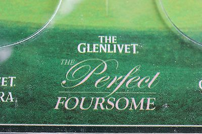 The Glenlivet Back Bar 4 Glass Bottle Display The Perfect Foursome Scotch Wooden