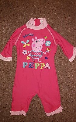 Peppa pig UV protection summer holiday sunsuit 18-24 months swim suit costume
