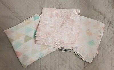 Baby Girl Swaddle Wraps Assorted -GREAT CONDITION