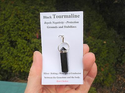 Black Tourmaline Six Sided Double Terminated Point -Grounding Protective Energy