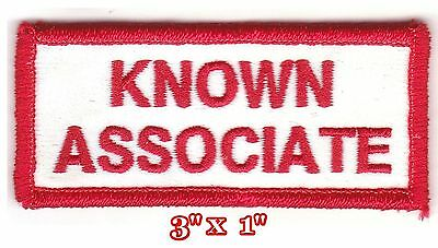 Hells Angels Big House Crew 'known Associate' Support Patch - White
