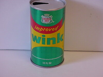 Vintage Canada Dry Wink Straight Steel Pull Tab Top Opened Soda Can Super Clean